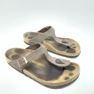 Birkenstock Gizeh Thong Sandals Leather 10 40